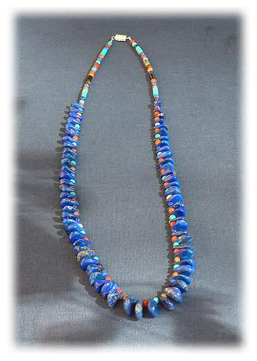 web lazuli lapis dies necklace statement